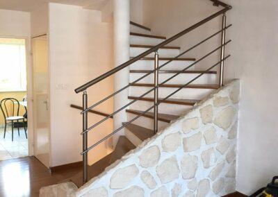 rampe escalier aluminium interieur